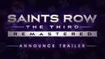 Saints Row The Thrird Remastered announce trailer