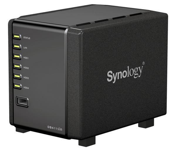 Billede af Synology DiskStation DS411 Slim - en NAS til hjemmebrug eller det lille kontor.